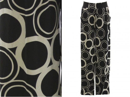 Black White Circle Pattern Lounge Pants