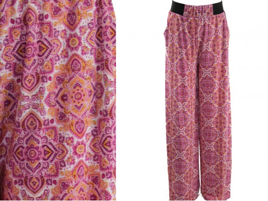 Pink Boho Pattern Lounge Pants