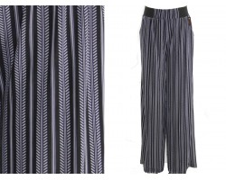 Black Feather Line Pattern Lounge Pants