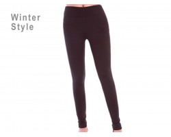 Black Solid Winter Leggings