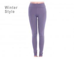 Gray Solid Winter Leggings