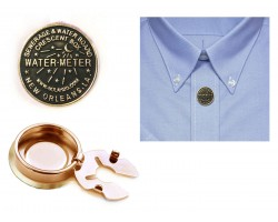 Gold Water Meter Button Cover Pairs