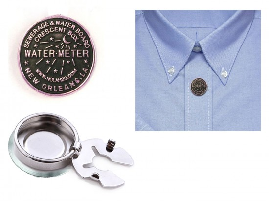 Silver Water Meter Button Cover Pairs