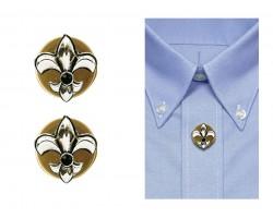 Silver Gold Fleur De Lis Button Covers