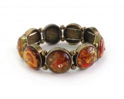 Amber Antique Gold Stretch Bracelet