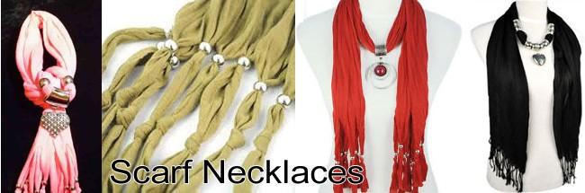 Scarf Pendant Necklace
