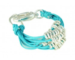 Turquoise Paracord Multi Strand Ring Bracelet