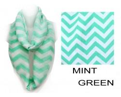 Mint Chevron Infinity Scarf