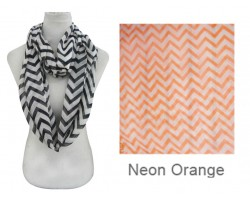 Orange Neon Chevron Infinity Scarf