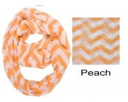 Peach Chevron Infinity Scarf