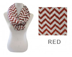Red Chevron Infinity Scarf