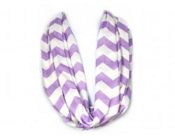 "Light Purple Jersey Knit Chevron Infinity 2 Layer 10"" Wide Scarf"
