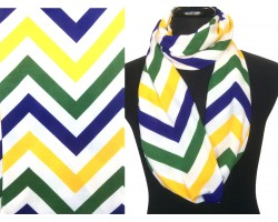 "Multi Jersey Knit Chevron Infinity 2 Layer 10"" Wide Scarf"