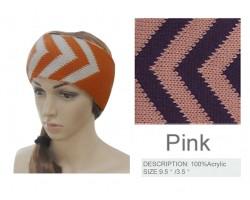 Pink & Purple Chevron Knit Headband