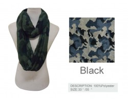 Navy Camouflage Infinity Scarf