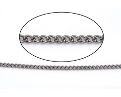 Gun Metal 3mm Curb Chain