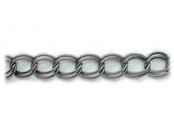 Gun Metal 12mm Double Link Curb Chain