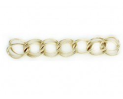Shiny Gold 12mm Double Link Curb Chain