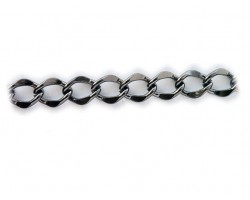 Gunmetal 11x15mm Flat Curb Chain