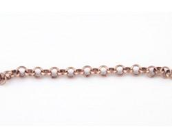 Antique Copper Plate 5mm Rolo Chain