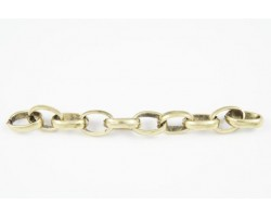 Antique Gold Oval Rolo Chain