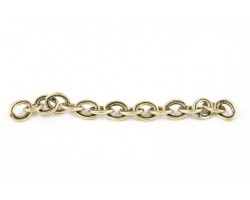 Antique Copper Plate 6X8mm Double Oval Link Chain
