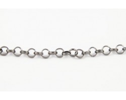 Gunmetal 5mm Rolo Chain