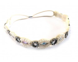 Pearl Crystal Marquie Stretch Headband