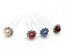 Assorted Pastel Pearl Hair Pins 36pc