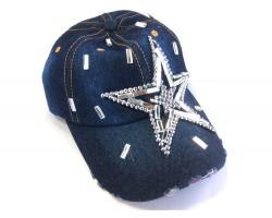 Star Crystal Dark Denim Blue Cap