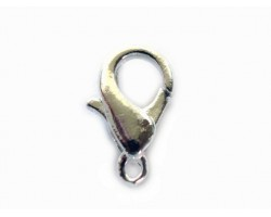 8x15mm Silver Plate Lobster Claw Clasp