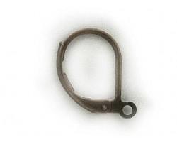 Antique Gold Plate Plain Leverback Euro Ear Clip