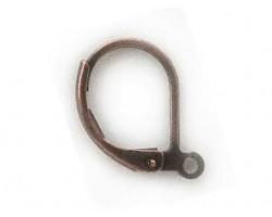 Antique Copper Plate Plain Leverback Euro Ear Clip
