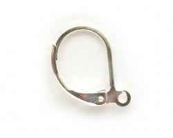 Silver Plate Plain Leverback Euro Ear Clip