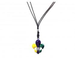 Mardi Gras Fleur De Lis Cord Necklace