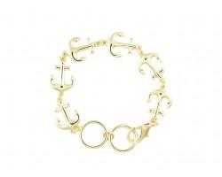 Gold Anchor Link Bracelet