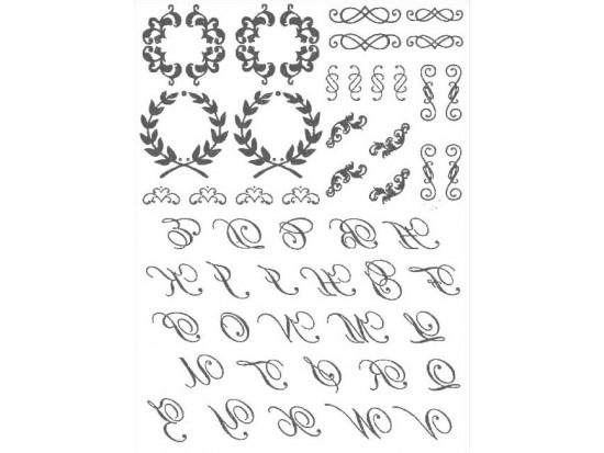 Gold Initials Temp Jewelry Tattoos