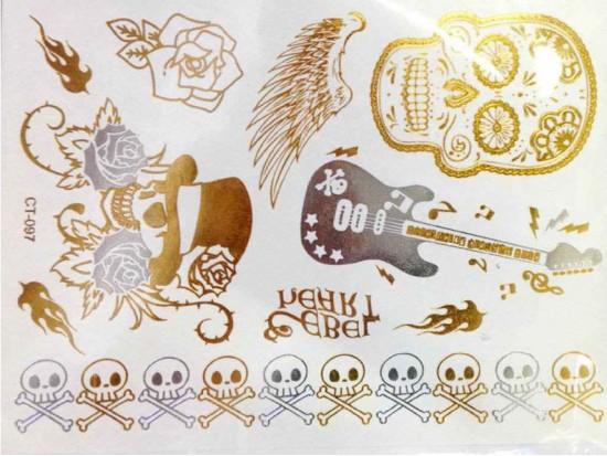 Silver Gold Temp Jewelry Tattoos