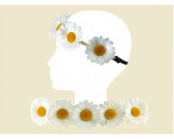 White Daisy Silk Flower Headband