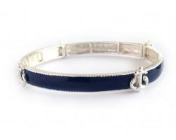 Navy Anchor Sectional Stretch Bracelet
