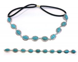 Turquoise Marquise Stones Stretch Hatband