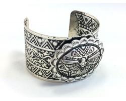 Silver Thunder Bird Concho Cuff Bracelet
