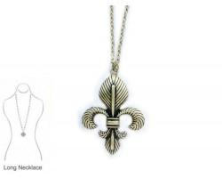 Gold Fleur De Lis Chain Necklace