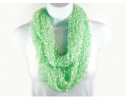 Lime Light Lightweight Confetti Knit Infinity Scarf