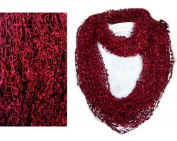 Maroon Lightweight Confetti Knit Infinity Scarf