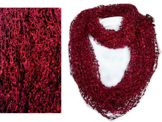 Maroon Lightweight Confetti Knit Infinity Scarf Ma26791mrn