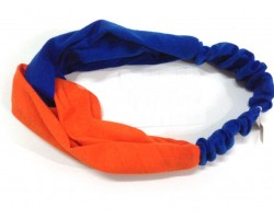 Blue Orange Cloth Turban Style Headband