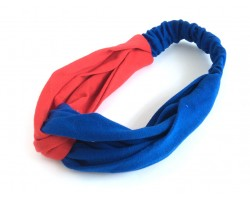 Blue Red Cloth Turban Style Headband
