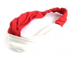 Red White Cloth Turban Style Headband
