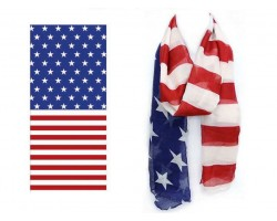 USA Flag Oblong Scarf